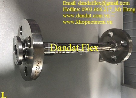 Bảng giá khớp nối mềm chống rung lắp bích 2 đầu xoay, khớp nối inox