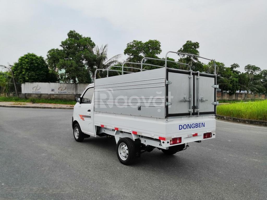 Xe tải dongben 810kg chở hoa
