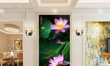 Tranh hoa sen 3d- gạch tranh
