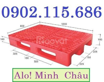 Pallet nhựa 1 mặt, pallet nhựa đặc, pallet nhựa nguyên khối