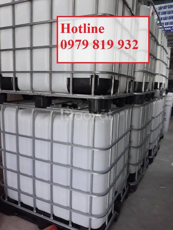 Cung cấp thùng nhựa tank nhựa tank IBC 1000l có khung sắt