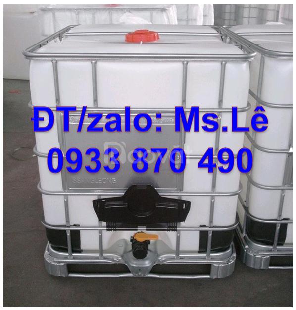 Mua bồn nhựa ibc 1000l cũ ở đâu,tank nhựa 1000l cũ đựng hóa chất