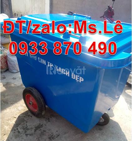 Cần mua thùng rác 660 lít y tế màu vàng,xe thu gom rác y tế 1000 lít