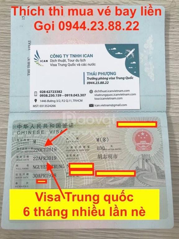 Chuyên Visa Trung Quốc toàn quốc - Công ty Ican