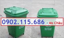 Thùng rác nhựa 60l, thùng rác 60l đạp chân, thùng rác 60l nắp lật,