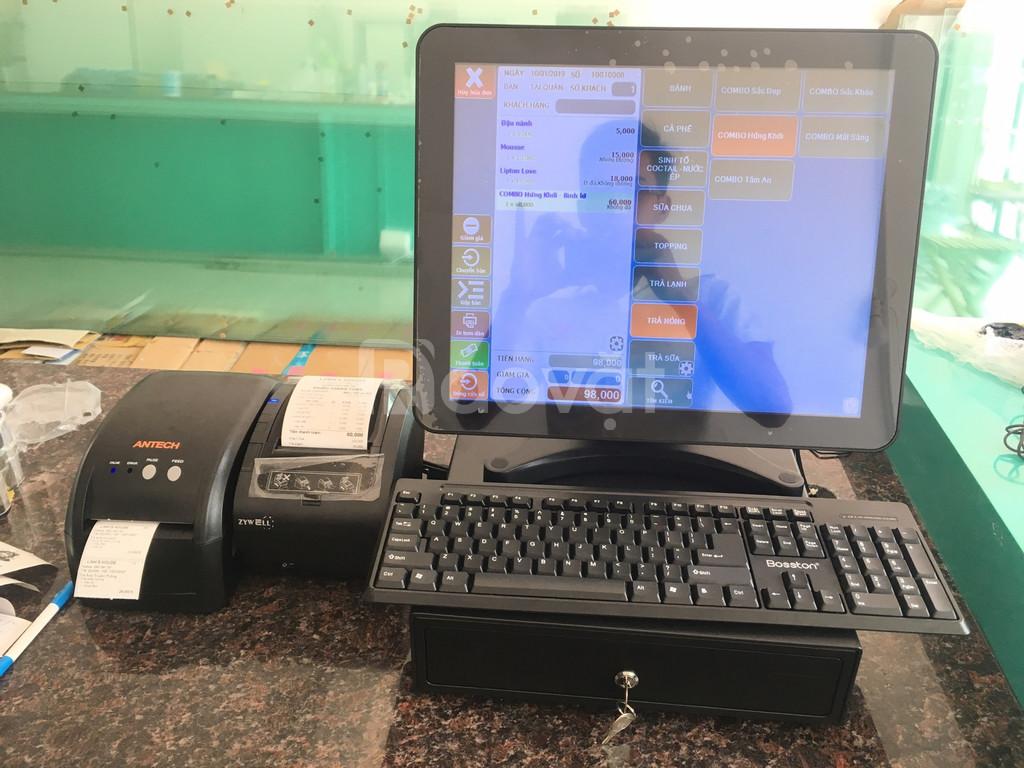 Lắp đặt hệ thống máy tính tiền cho quán cà phê, trà sữa tại Cư jut
