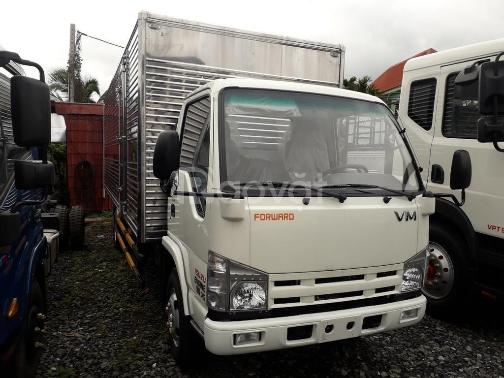 Xe tải isuzu 1.9 tấn thùng 6m2 chở pallet cao 2m4 vào thành phố