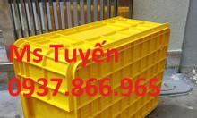 Hộp nhựa B2, thùng nhựa đặc HS017 làm từ nhựa PP nguyên sinh