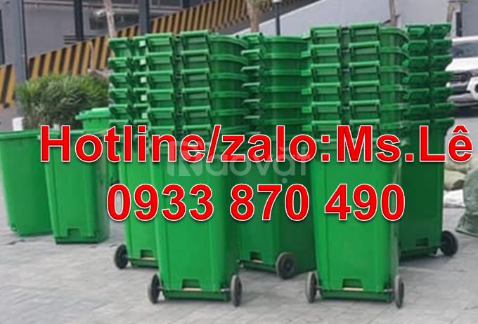Thùng rác 240 lít, thùng rác 120 lít, thùng rác 240 lít màu trắng