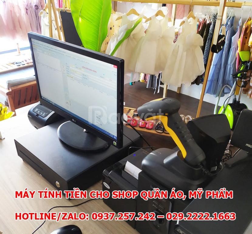 Máy tính tiền cho shop quần áo, mỹ phẩm tại TPHCM