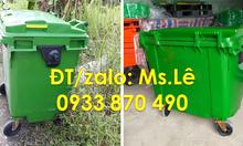 Công ty bán xe thu gom rác 1000 lít,xe đẩy rác 660 lít nhựa HDPE
