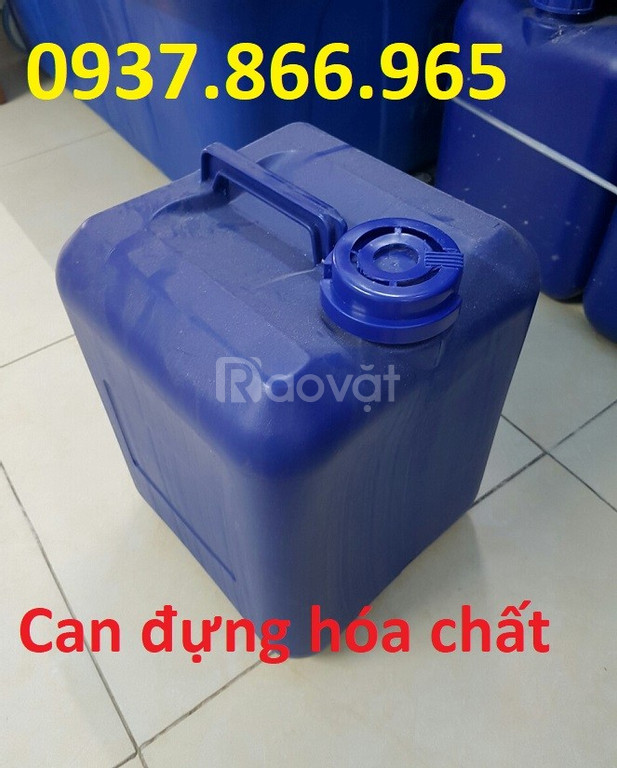 Can nhựa xanh, can nhựa trắng dung tích từ 5L đến 30L