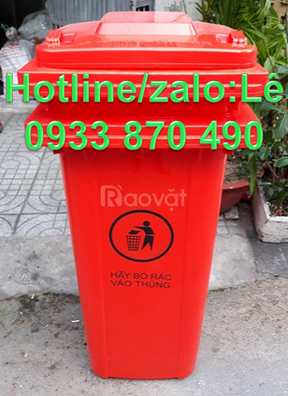 Thùng rác HDPE 240 lít màu xám nắp kín,thùng rác màu trắng 120 lít