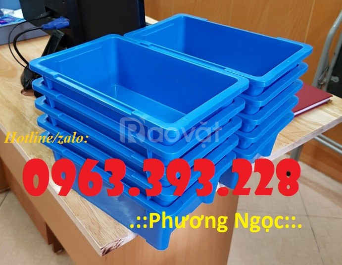 Thùng nhựa đặc A4, hộp nhựa linh kiện, khay nhựa chứa đồ
