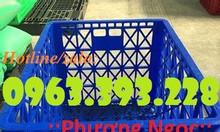 Sóng nhựa rỗng HS022, sọt nhựa 8 bánh xe, sọt nhựa đẩy hàng