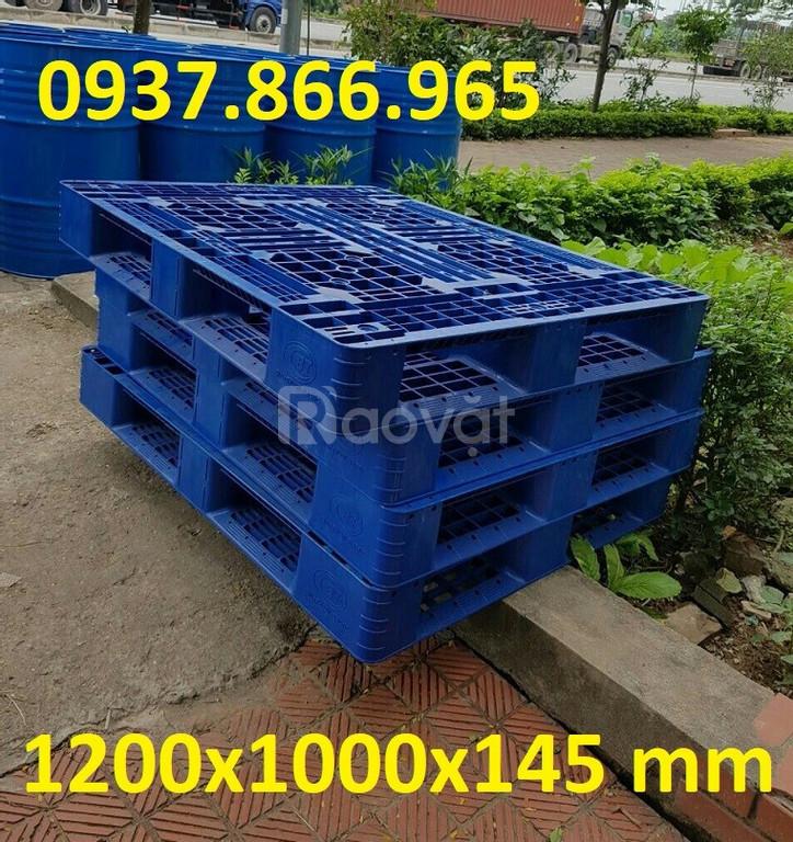 Pallet nhựa 2 mặt kích thước 1200x1000x145 mm