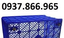 Thùng nhựa 5 bánh xe đựng sản phẩm, thùng nhựa kéo hàng