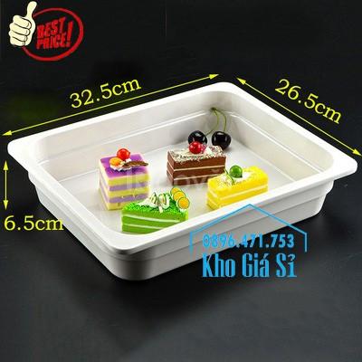 Nắp nhựa mica hình chữ nhật mở 2 chiều đậy cont buffet