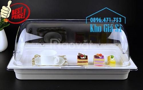 Bán khay inox đựng thực phẩm, gia vị, thạch trà sữa, cháo dinh dưỡng