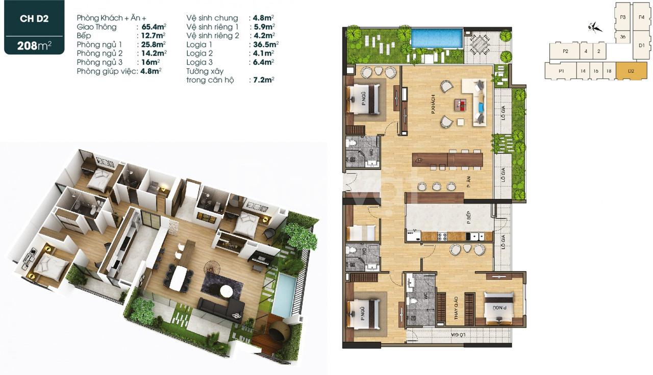 Penthouse Duplex siêu sang tại dự án TSG Lotus Sài Đồng