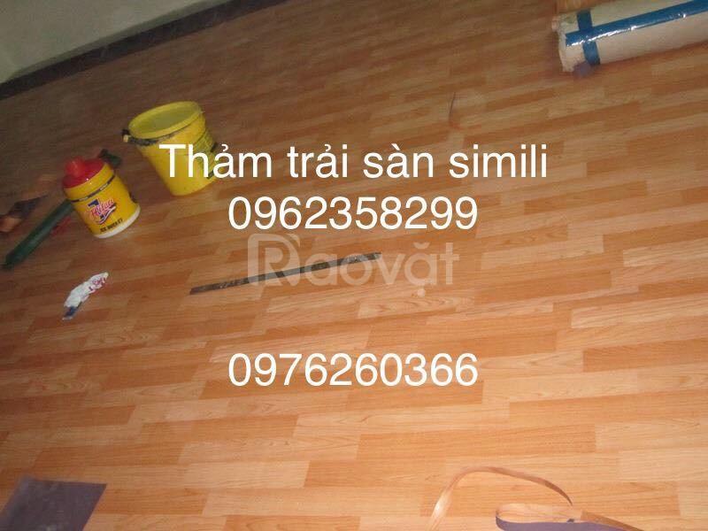 Thảm trải sàn simili, pvc