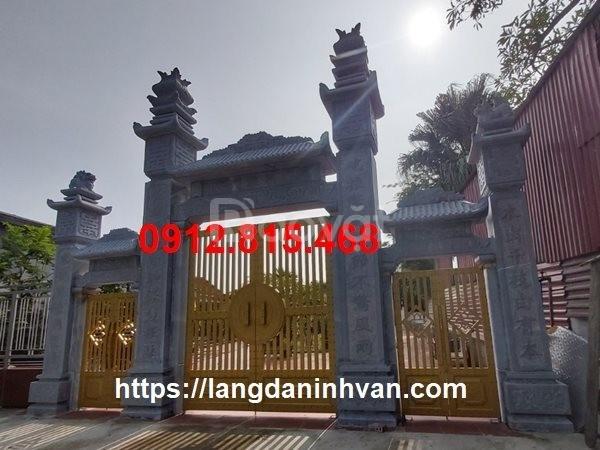 Xây cổng nhà thờ họ, nhà thờ tổ, nhà từ đường bằng đá xanh khối