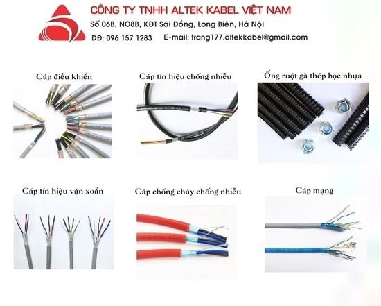 Cáp chống cháy, cáp tín hiệu, ống ruột gà thép chất lượng cao