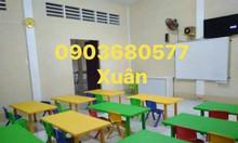 Bàn và ghế nhựa trẻ em cho trường học mầm non giá rẻ, chất lượng cao