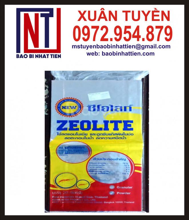 Bao PP dệt ghép màng đựng hạt zeolite