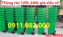 Chuyên bỏ sỉ lẻ thùng rác nhựa, thùng rác 120 lít, 240 lít, 660 lít