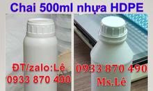 Mua vỏ chai nhựa 500ml,vỏ chai 500ml nhựa HDPE,chai hóa chất 500ml