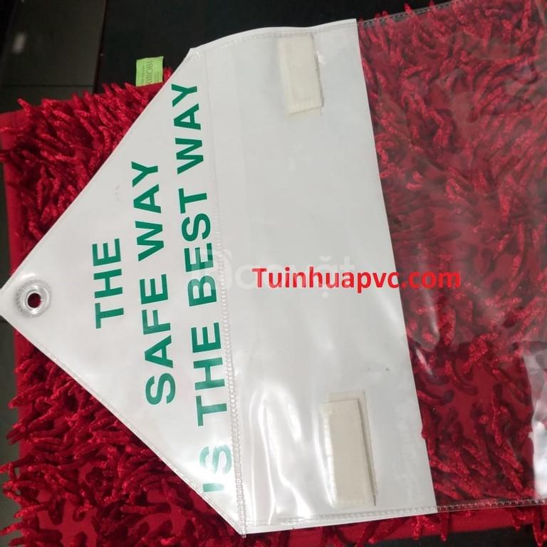 Túi nhựa PVC có khoen nhựa dán xé - kích thước theo yêu cầu
