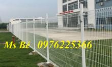 Thi công lắp đặt hàng rào lưới thép hàn sơn tĩnh điện