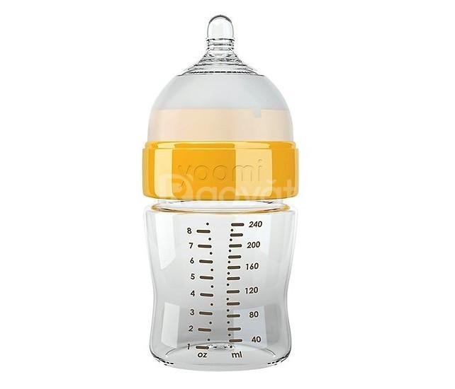 Bình sữa Yoomi 240ml - Y18B.YCCO (Màu trắng cổ vàng)