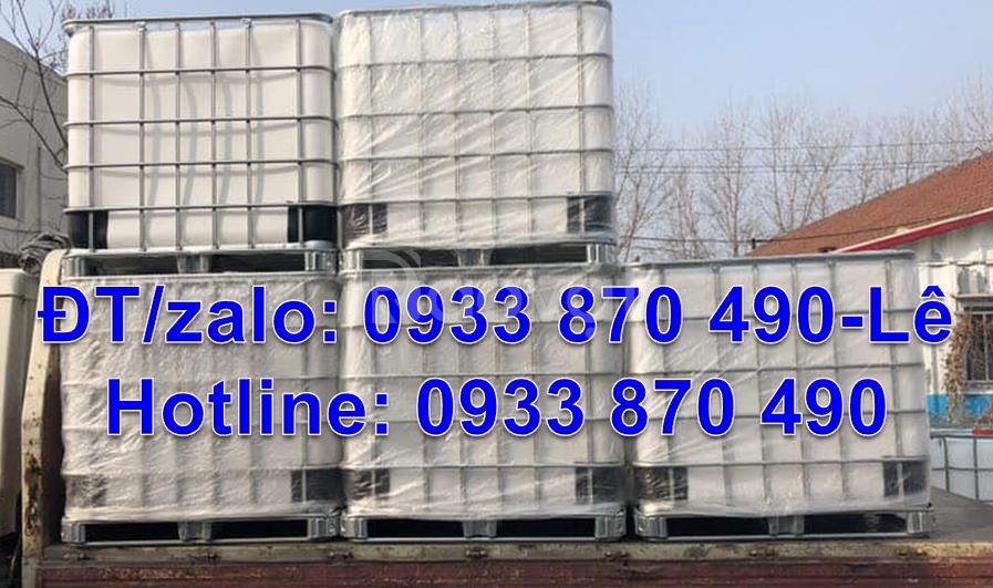 Bán bồn nhựa 1000l đựng hóa chất,tank nhựa 1000l qua sử dụng