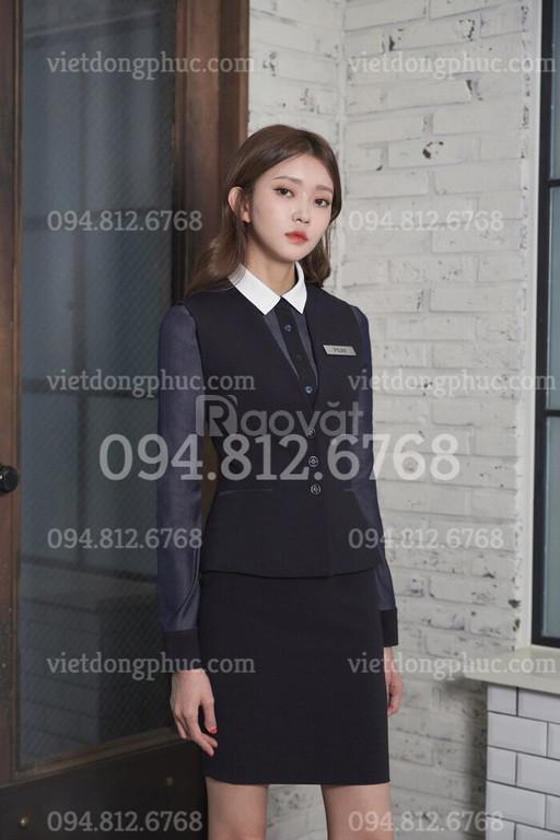 Thiết kế, gia công đồng phục áo gile nữ theo yêu cầu