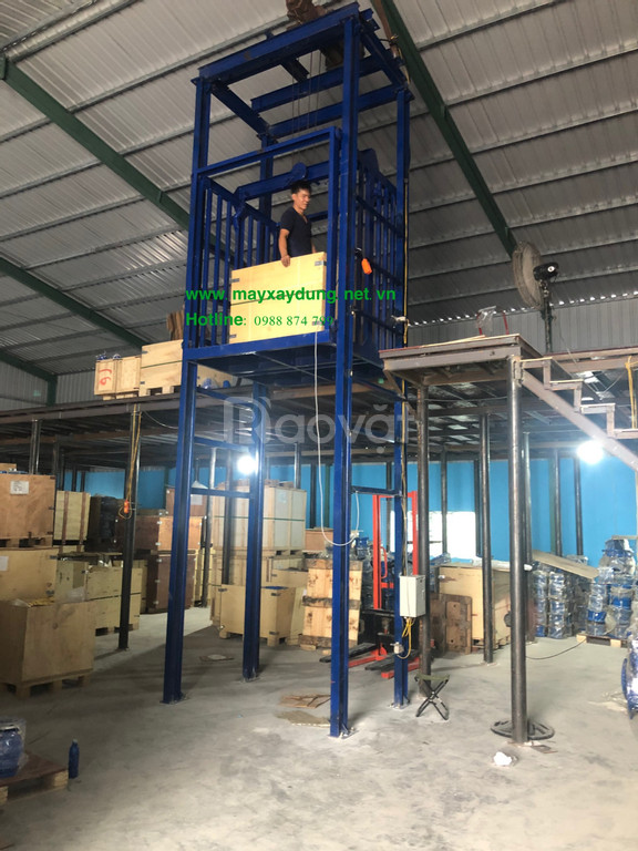 Thang nâng hàng kho xưởng, thang nâng hàng thủy lực 1000kg, 5000kg