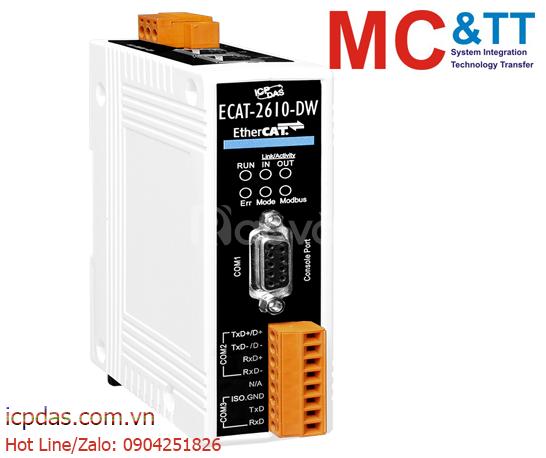 Bộ chuyển đổi EtherCAT sang Modbus RTU cổng đồng hồ đo điện ICP DAS EC