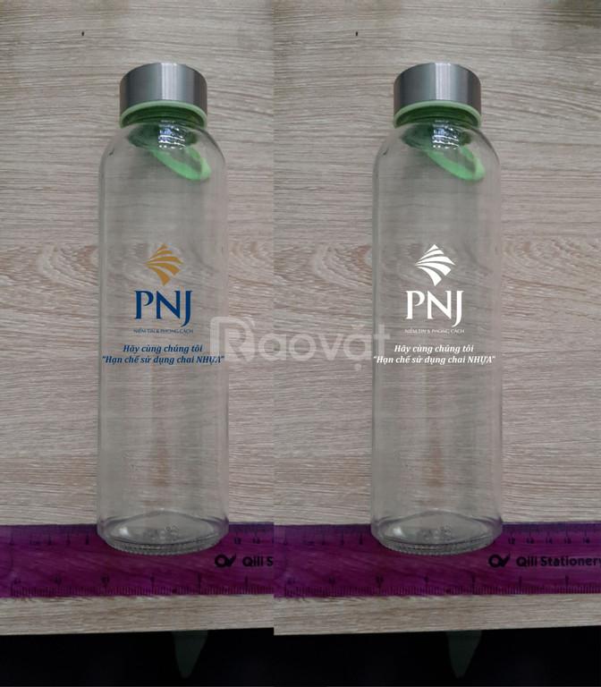 Xưởng cung cấp chai thủy tinh in logo tại Quảng Nam