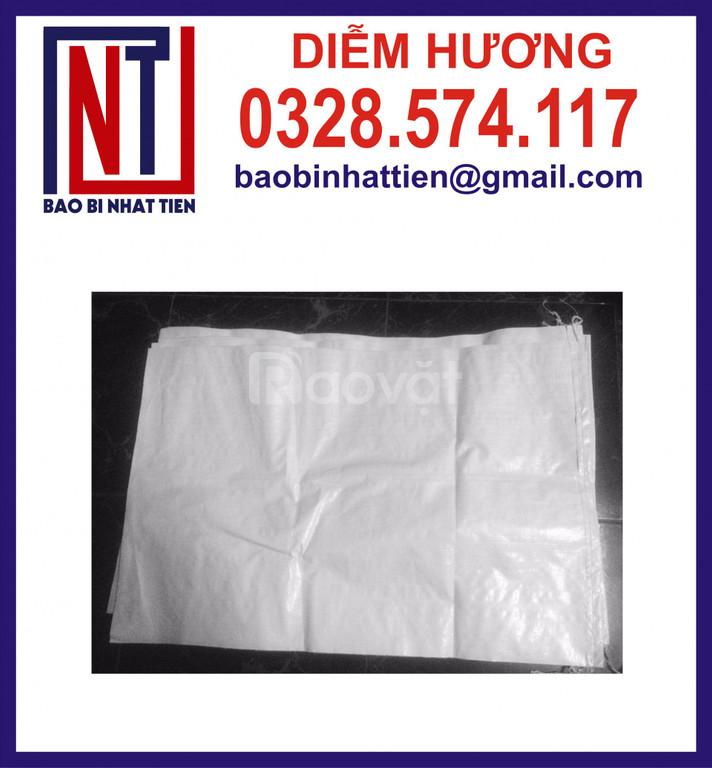 Bao pp dệt đựng 25kg, bao PP trắng, bao màu (ảnh 8)