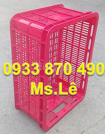 Rổ nhựa công nghiệp TPHCM, giá rổ nhựa hình chữ nhật, sóng nhựa