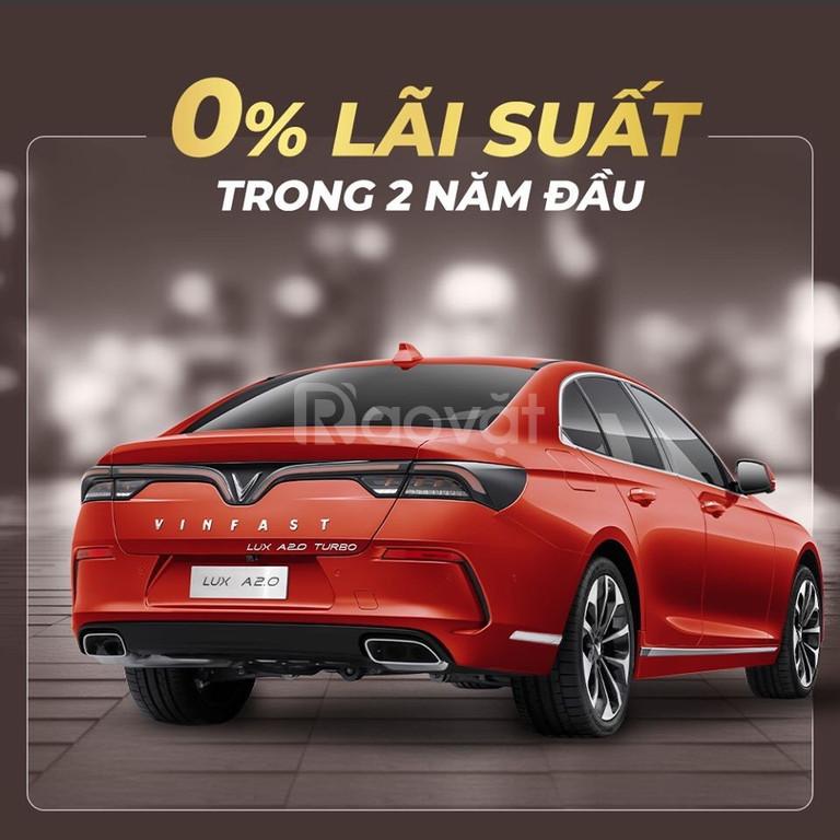 Xe VinFast Lux A2.0  màu cam độc giao ngay, trả góp 0%