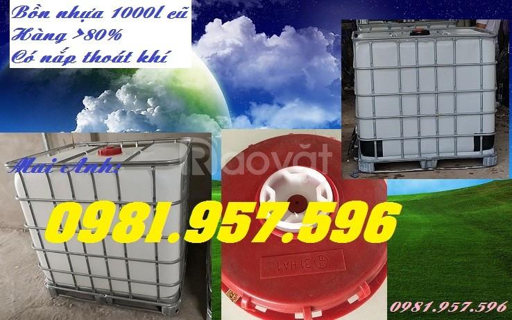 Tank IBC cũ, Tank IBC mới, bồn nhựa 1000l (ảnh 3)