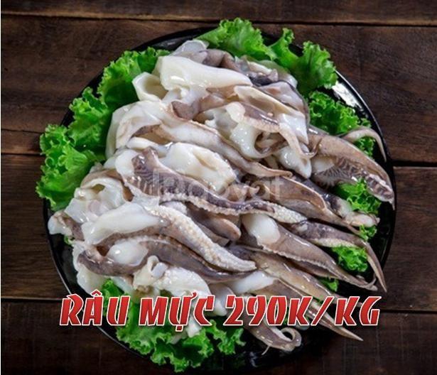 Thuỷ sản: nghêu, mực, bạch tuộc, tôm - chất lượng xuất khẩu
