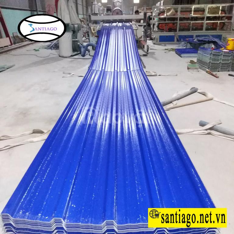 Tôn nhựa pvc asa 5 sóng vuông chống ăn mòn chống rỉ santiago