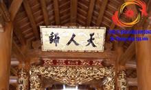 Đồ thờ tượng phật sơn son thếp vàng cho từ đường đình chùa đền