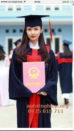 Đồng phục tốt nghiệp áo cử nhân mầm non, tiểu học