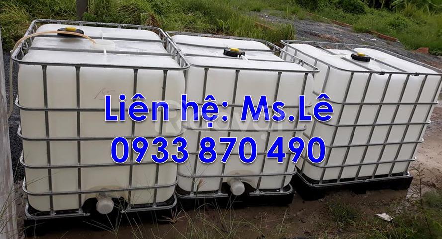 Bán bồn nhựa,tank nhựa,thùng nhựa ibc 1000l đựng hóa chất tại TPHCM