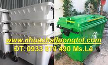 Thùng rác 1000 lít giá sỉ,xe thu gom rác 660l nhựa composite giá rẻ