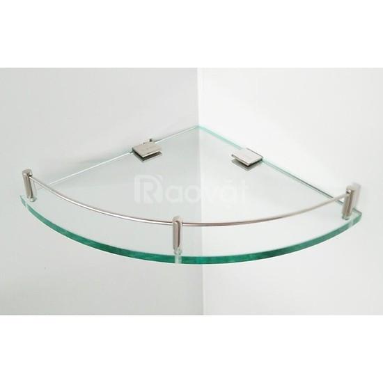 Kệ kính phòng tắm- Kính 10 ly- Kệ kính góc nhỏ gọn tiện dụng